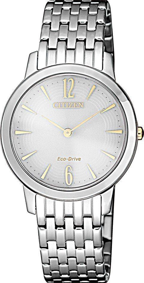 星辰EX1498-87A光動能腕表,不鏽鋼表殼、表鍊,約8,900元。圖/Cit...