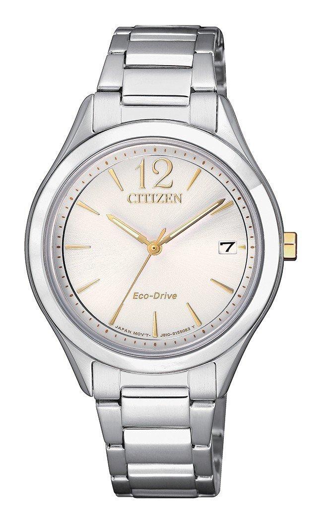 星辰FE6124-85A光動能腕表,不鏽鋼表殼、表鍊,約7,800元。圖/Cit...