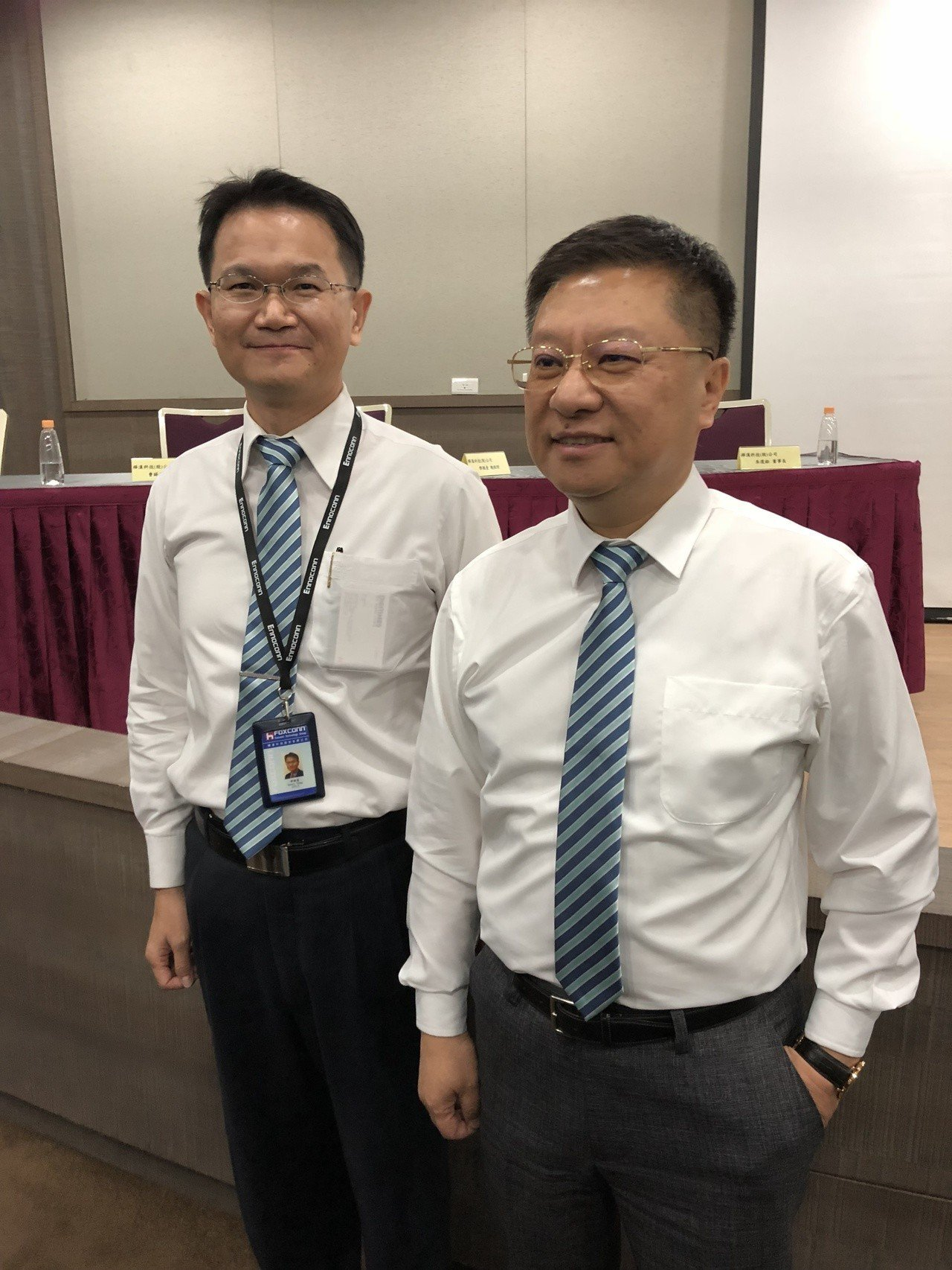 樺漢董事長朱復銓(右)與總經理鄧覲臺。記者蕭君暉/攝影
