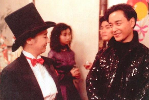 毛舜筠與張國榮演出「家有囍事」。圖/摘自Youtube