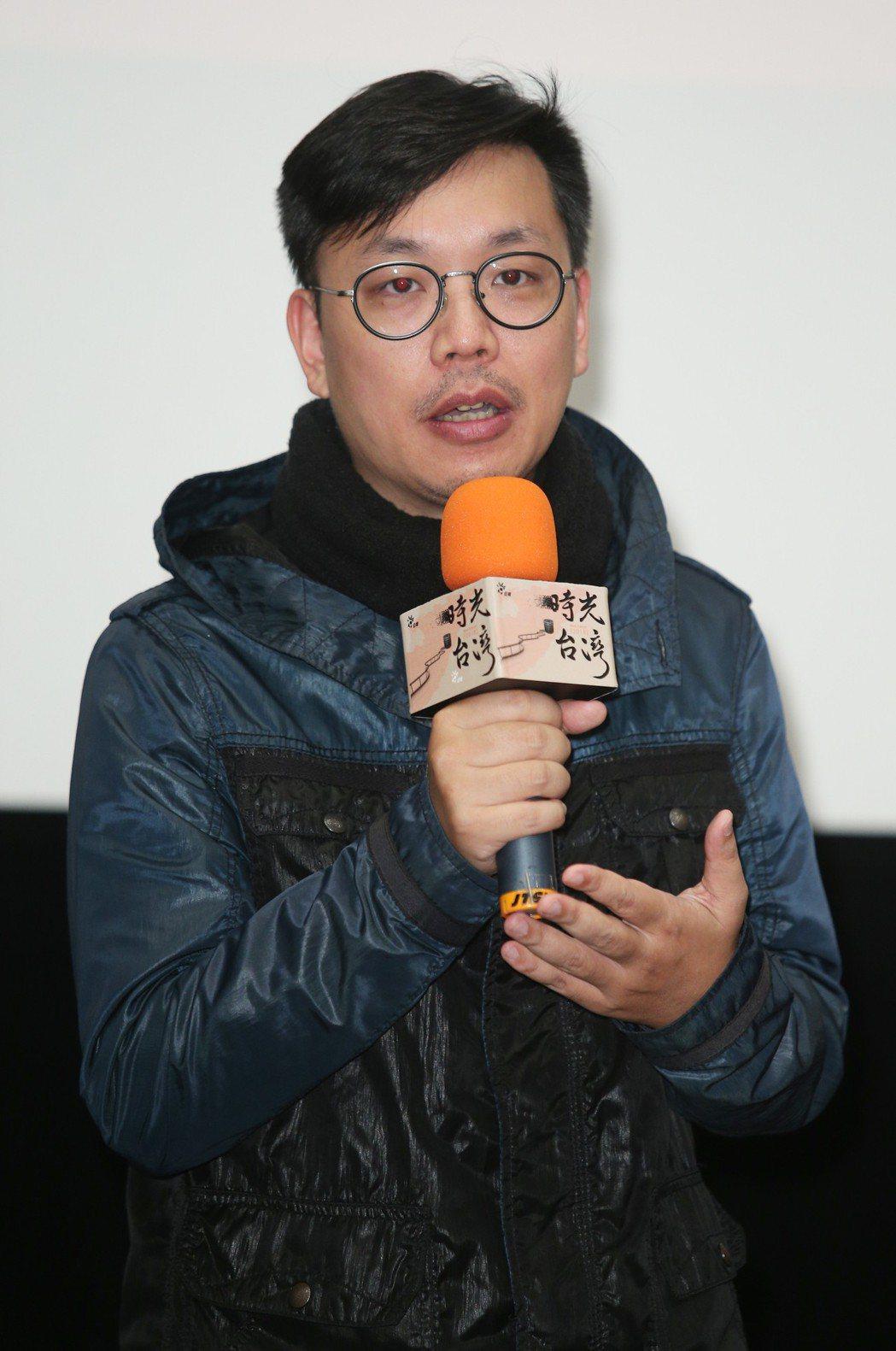 「時光台灣」紀錄短片首映會,導演黃候季然出席。記者陳正興/攝影