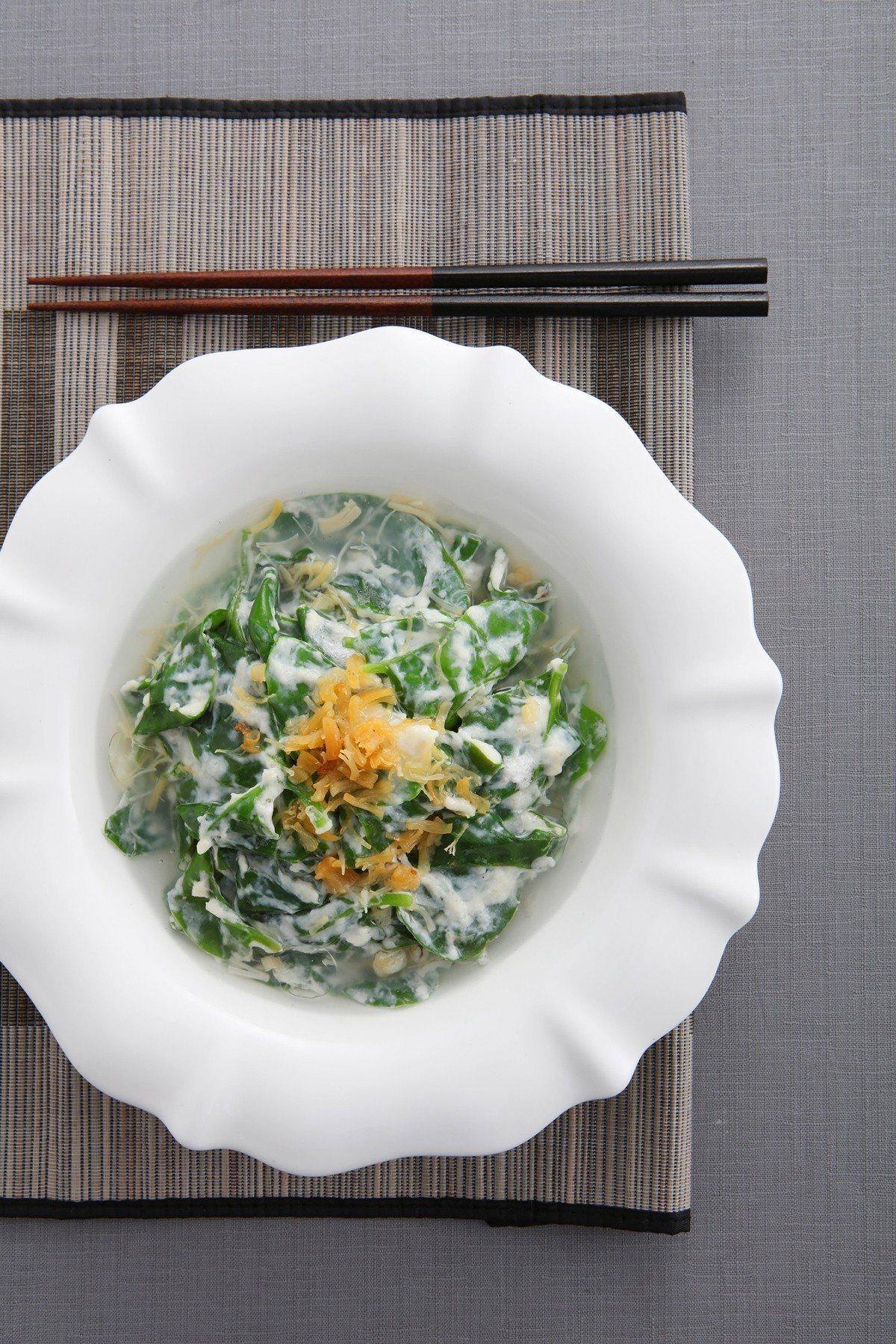 瑤柱雞蓉皇宮菜。圖/王品集團提供