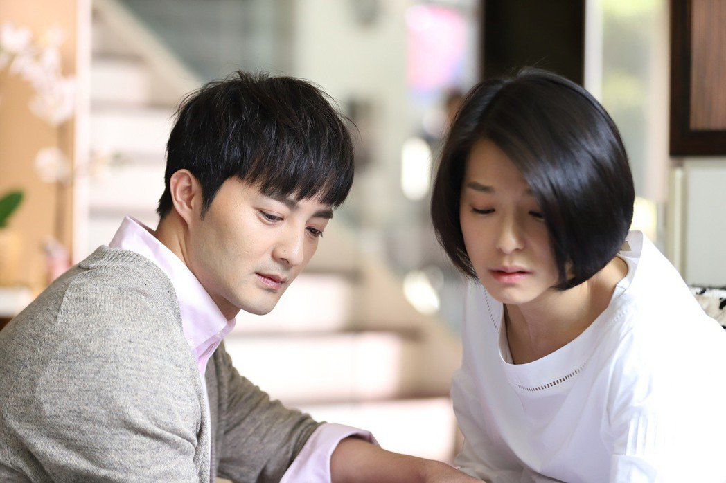 古斌在哭戲中得到賴雅妍的幫助。圖/歐銻銻娛樂提供