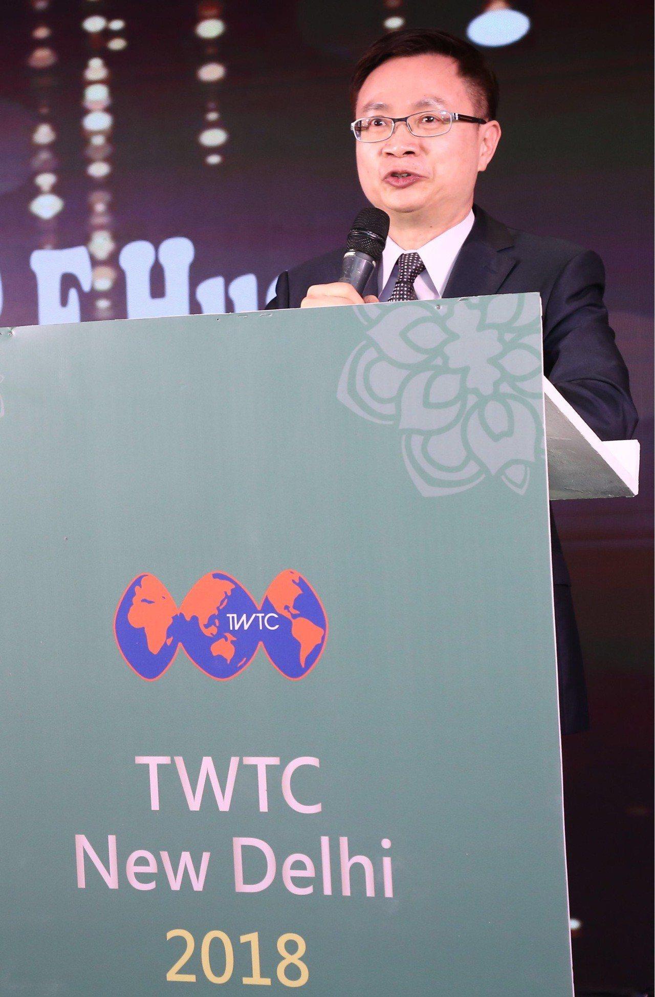 貿協董事長黃志芳在開館記者會上表示自2017年1月上任以來,已造訪印度七次,顯見...