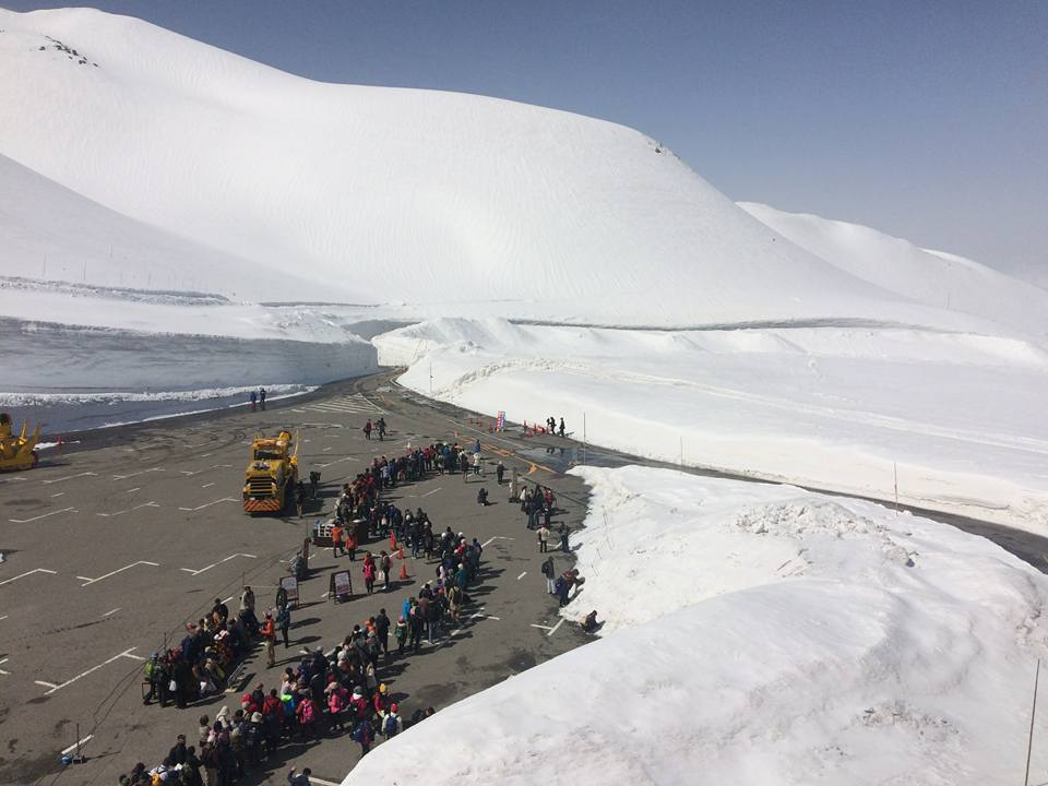 壯觀的大雪景色,乃是立山黑部的觀光賣點。圖/立山黑部提供