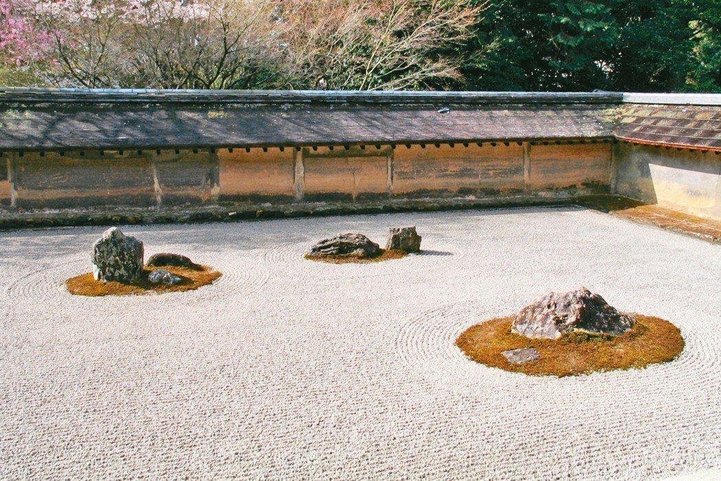 龍安寺枯山水庭園。 圖/有行旅提供