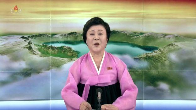 北韓國寶主播李春姬。 北韓朝中社
