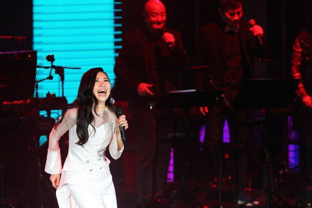 馬毓芬今天晚上在台北國際會議中心舉辦《愛的旅程》音樂會 。  記者徐兆玄/攝影