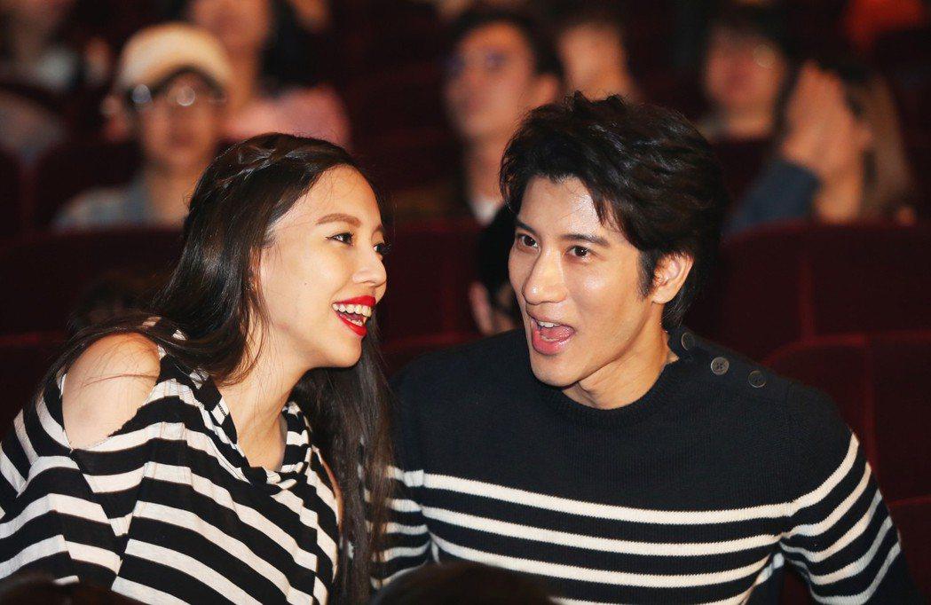 王力宏與老婆現身馬毓芬的《愛的旅程》音樂會。  記者徐兆玄/攝影