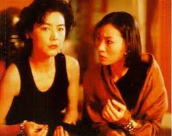 林青霞與王小鳳在「驚魂記」有不少精彩對手戲。圖/摘自HKMDB