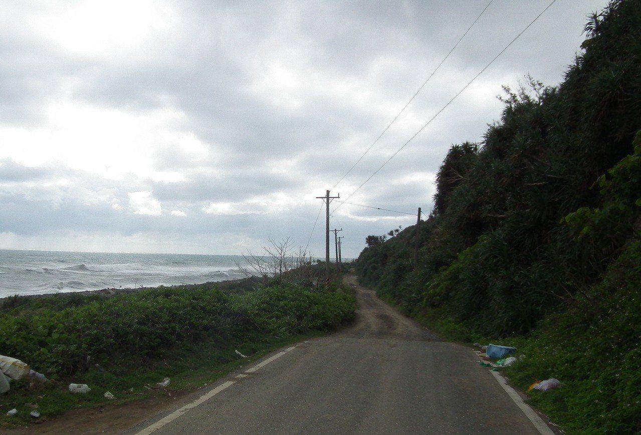 屏東旭海至台東下南田7公里路段,停工至今,仍無法通車。記者尤聰光/攝影