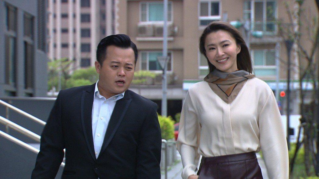 侯怡君(右)接拍民視八點「幸福來了」。圖/民視提供