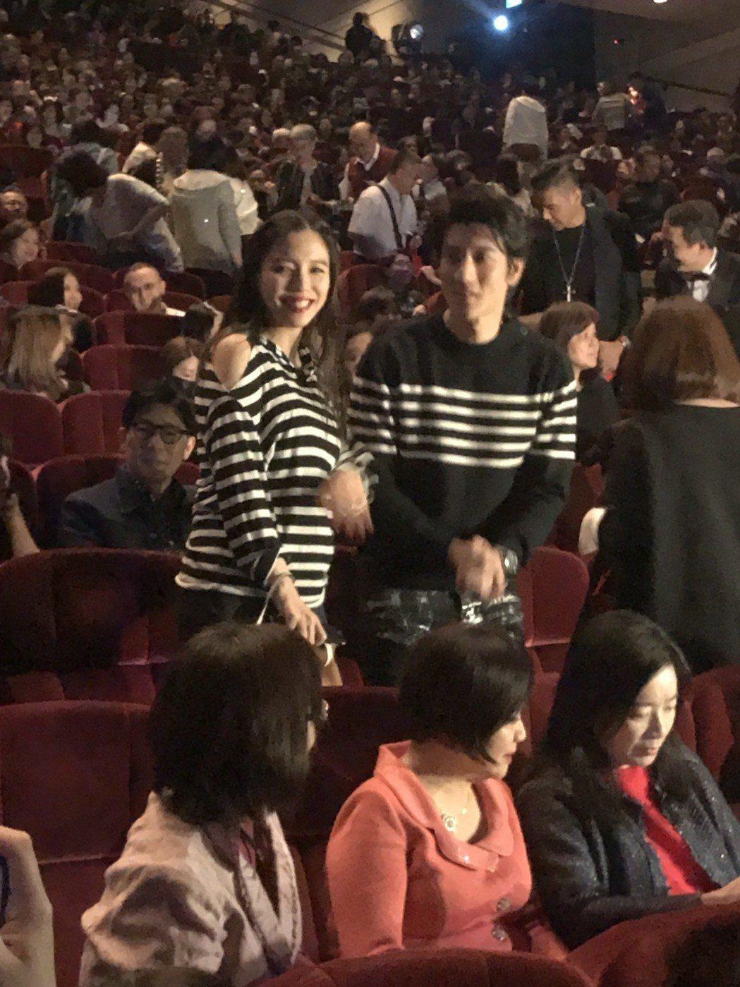王力宏和老婆李靚蕾現身。記者梅衍儂/攝影