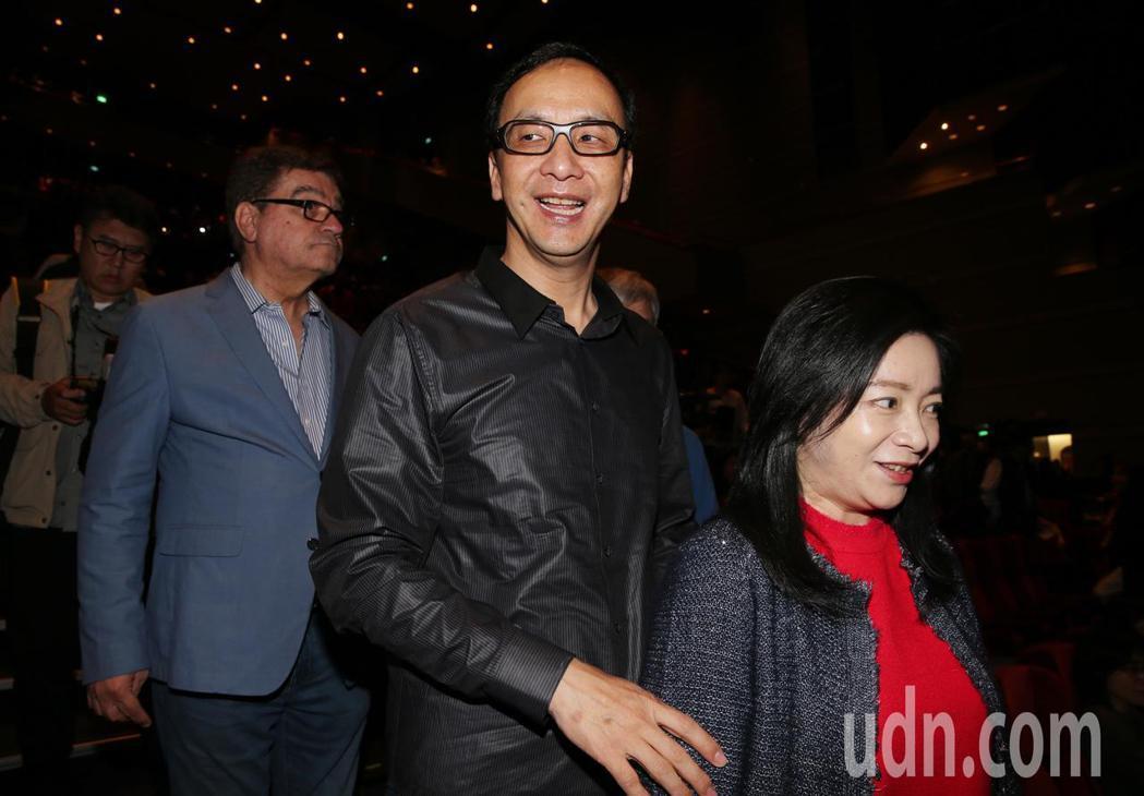 新北市長朱立倫出席馬毓芬的《愛的旅程》音樂會。記者徐兆玄/攝影