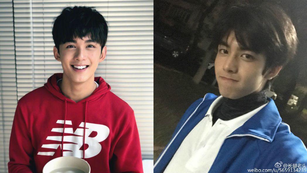 吳磊(左)與宋威龍(右)外形有些神似。