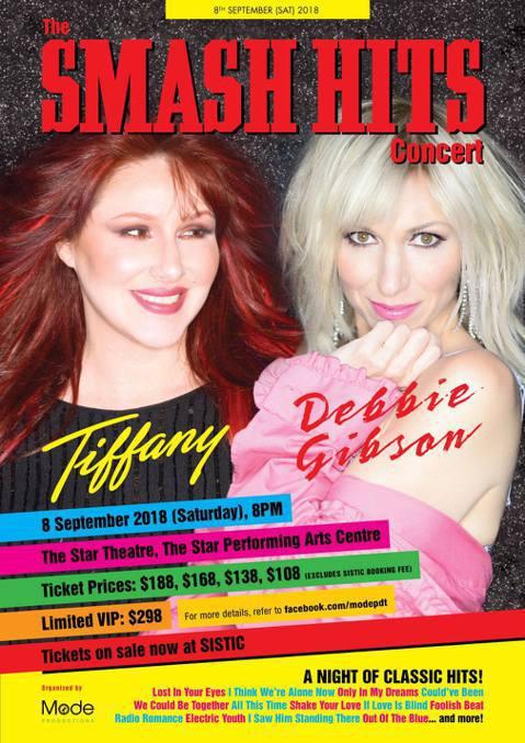 80年代在西洋樂壇被視為玉女死對頭的黛比吉布森與蒂芬妮,今年9月8日即將在新加坡罕見共同舉行演唱會,這也將是她們第一次在亞洲同台演出,最貴的VIP門票價格高達新台幣6659元。18日蒂芬妮搶先在自己...