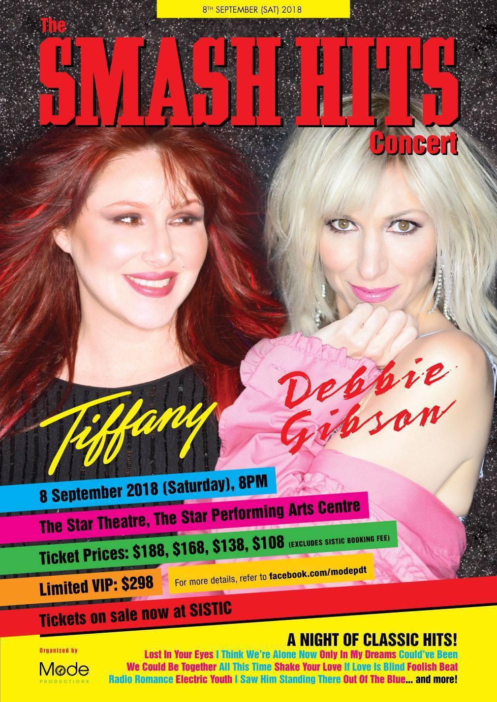 蒂芬妮(左)與黛比吉布森將在新加坡同台演出。圖/摘自臉書