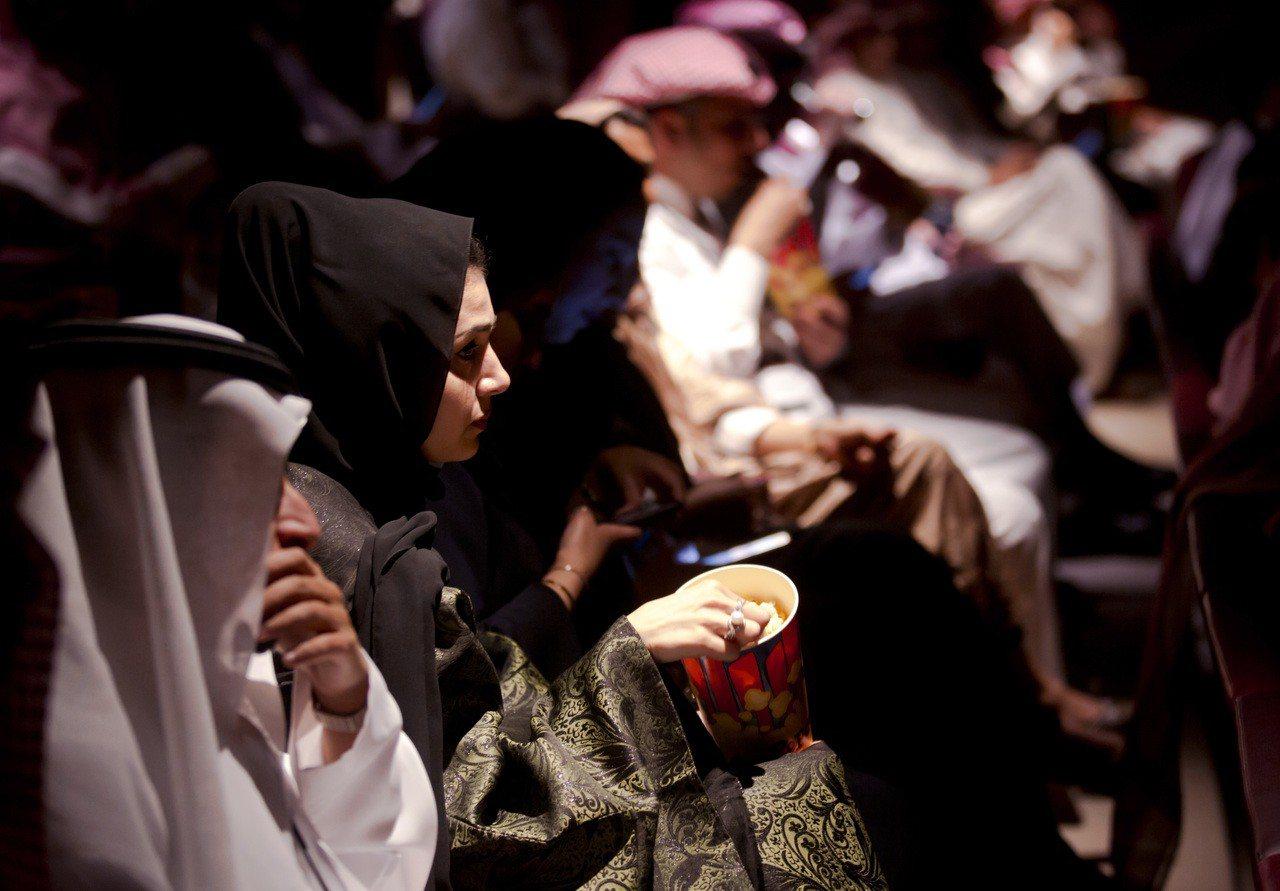 沙烏地阿拉伯18日在首都利雅德的阿布杜拉國王金融區電影院( King Abdul...