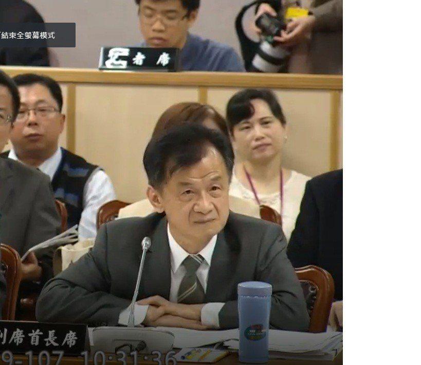法務部長邱太三上午出席立法院司法及法制委員會。記者王聖藜/攝影