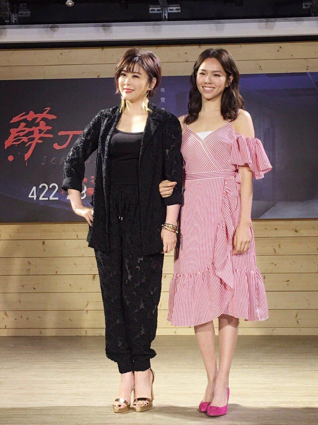 方馨(左)與夏于喬演出民視「薛丁格的貓」。圖/民視提供