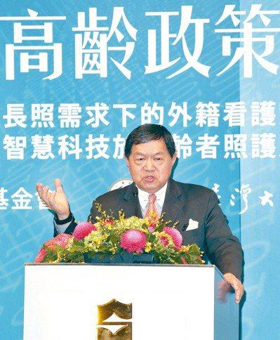 遠東集團董事長徐旭東針對高齡智慧照護等問題提出建言。 記者蘇健忠/攝影