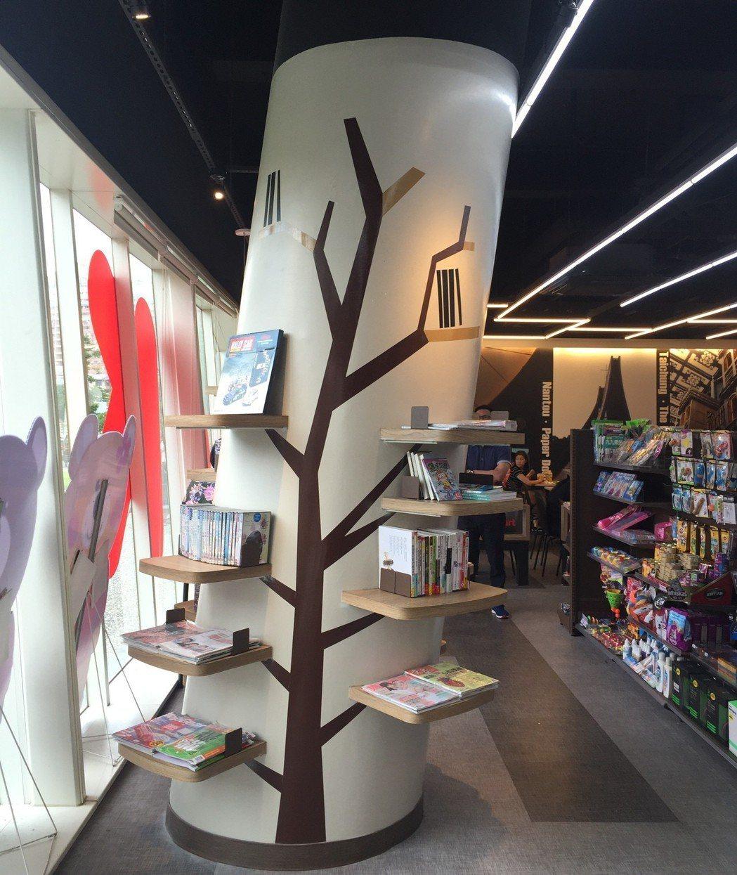 OK超商台中國圖門市結合書香氣息,獨家配有閱覽室。圖/OK超商提供