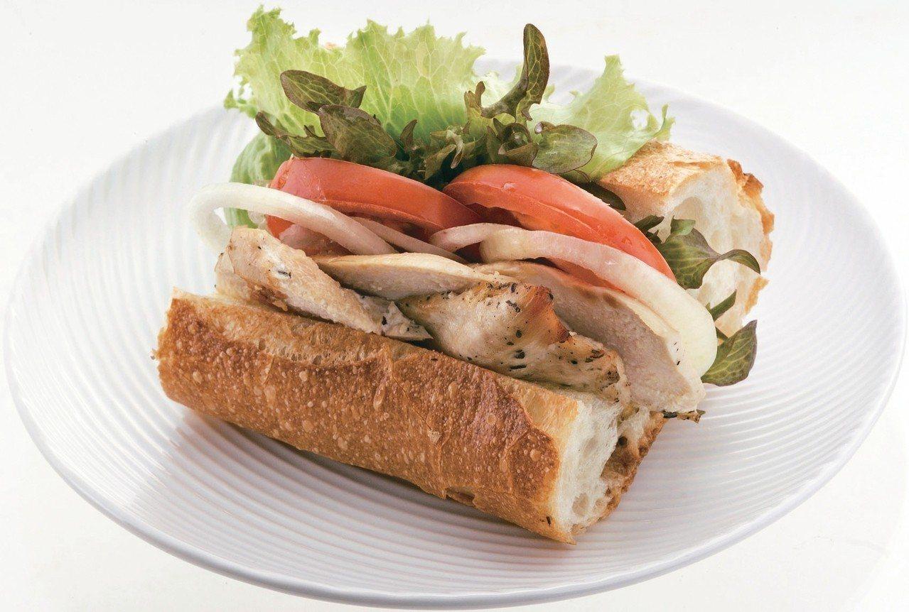 田園烤雞三明治 圖/天和鮮物提供
