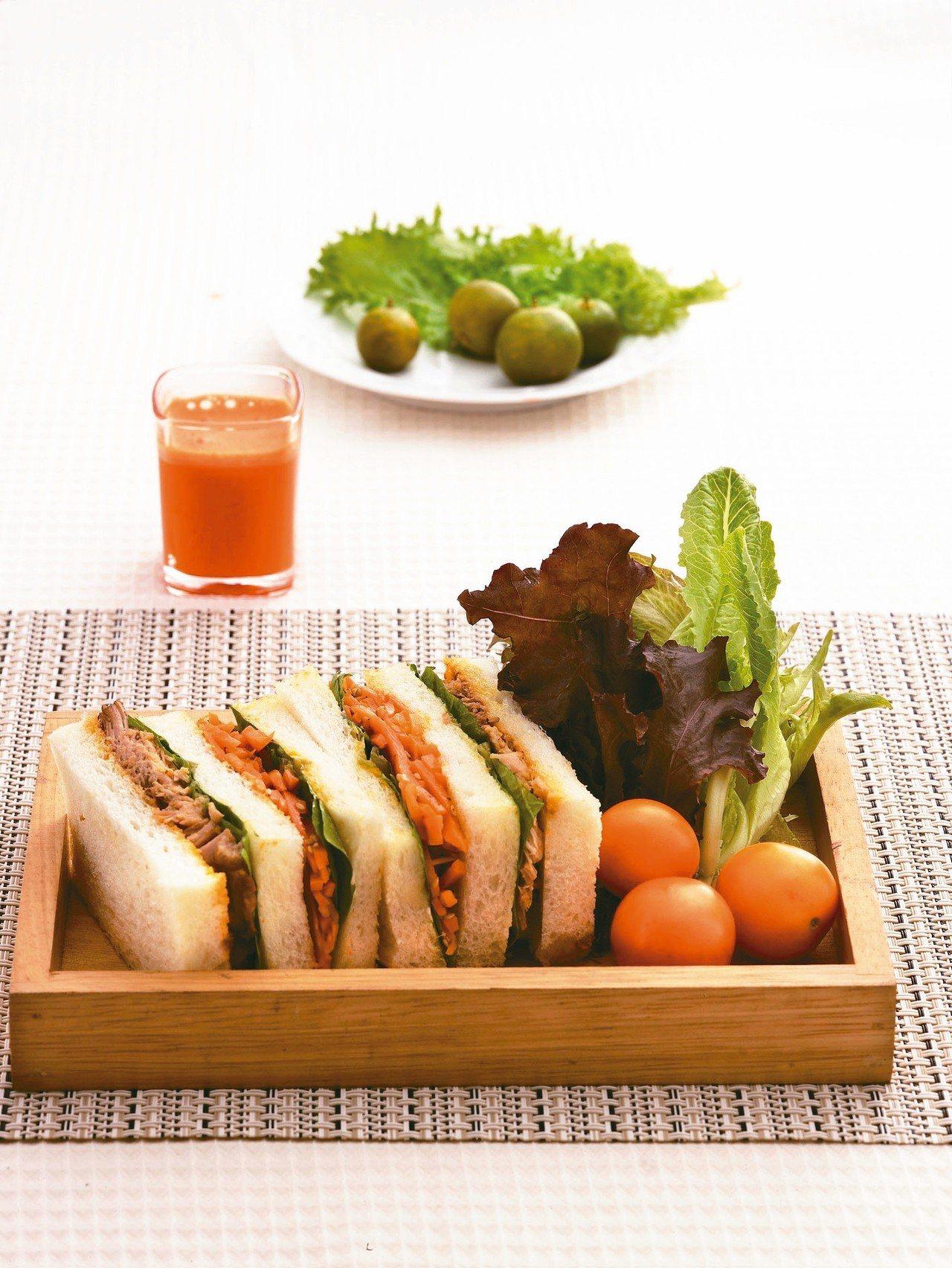 胡蘿蔔豬肉三明治 圖/天和鮮物提供