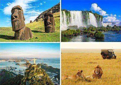 此生必遊的景點,透過環遊世界一次搜齊。圖/易遊網提供