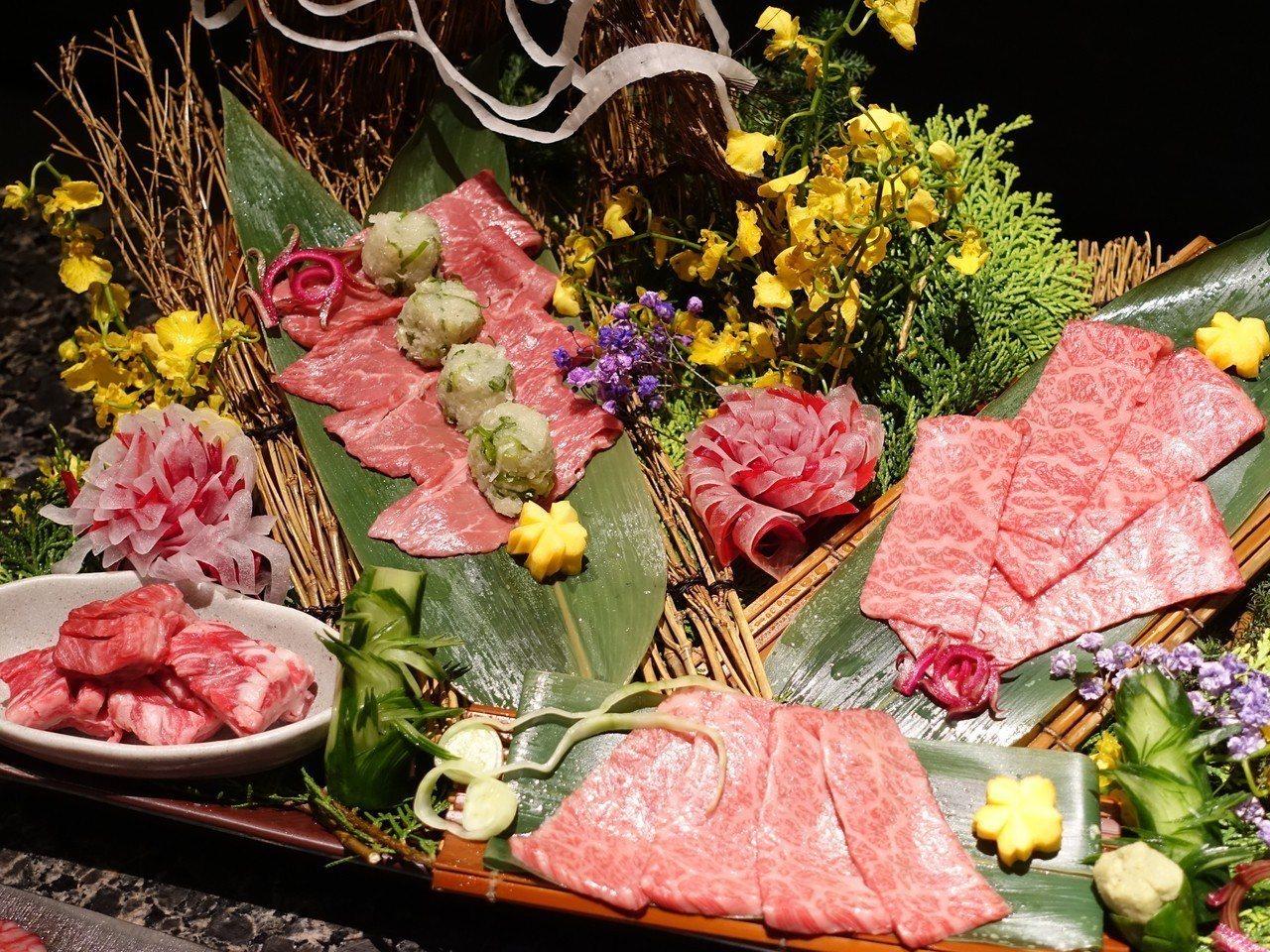 日本和牛四種組合,售價1880元。記者張芳瑜/攝影