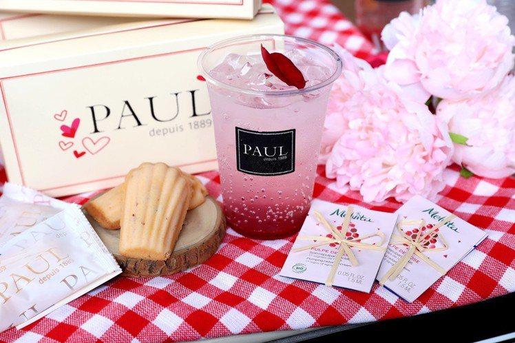 Melvita和PAUL聯合舉辦法式粉紅玫瑰花屋活動。圖/Melvita提供