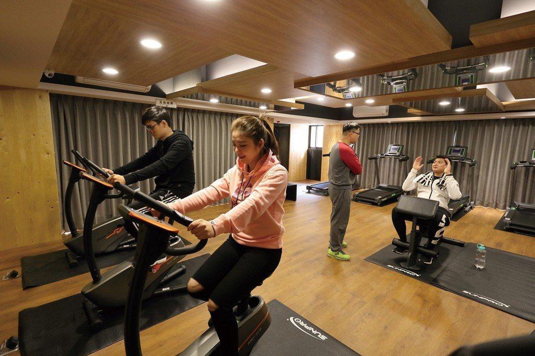 「星真愛」健身房。 圖片提供/浤圃建設