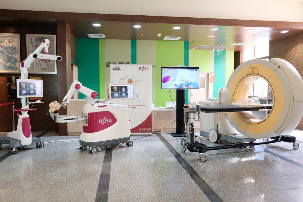 臺北神經醫學中心引進ROSA Spine 機械手臂。記者張曼蘋/攝影