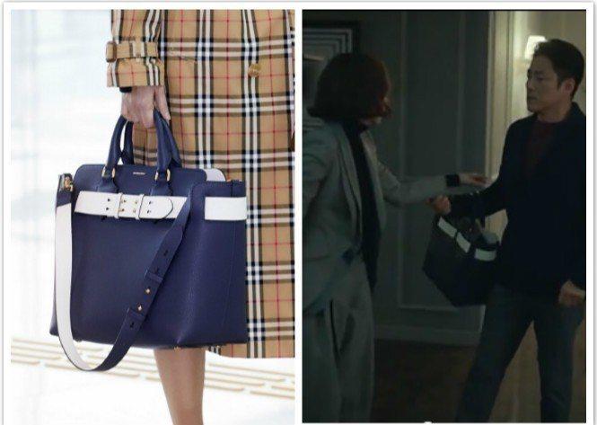 金南珠在戲中選用BURBERRY The Belt款式。圖片來源/JTBC、BU...