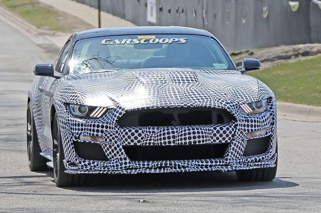車頭Shelby眼鏡蛇LOGO相當明顯。 摘自carscoops