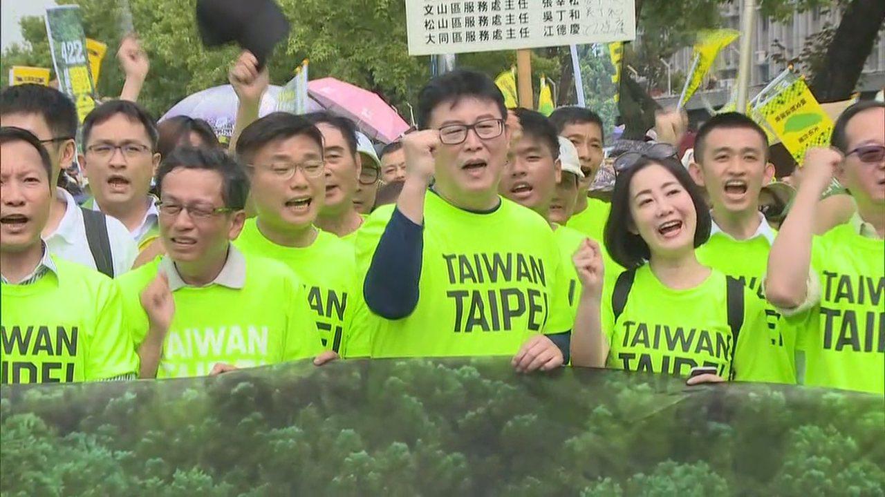 有意參選台北市長的民進黨立委姚文智,在4月22日號召立委、議員、民眾上街遊行,估...