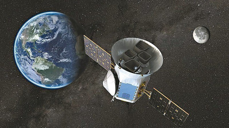 Tess離開地球奔向月球示意圖。 歐新社
