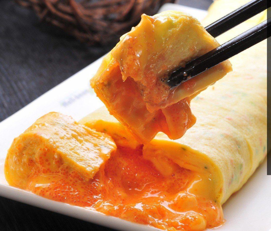 韓式魚卵起司烘蛋捲。圖/涓豆腐提供