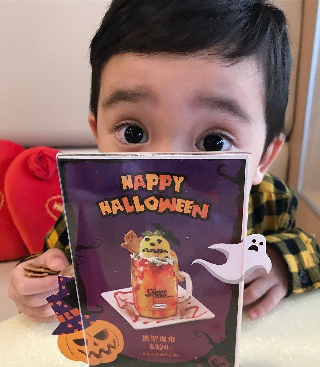 梁靜茹兒子有雙迷人大眼睛。 圖/擷自ig