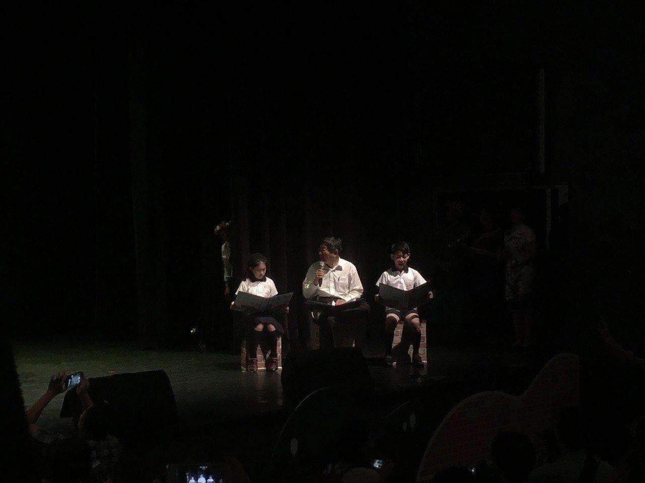 台北市長柯文哲今天出席「營造本土語言友善學習環境計畫」活動。記者張世杰/攝影