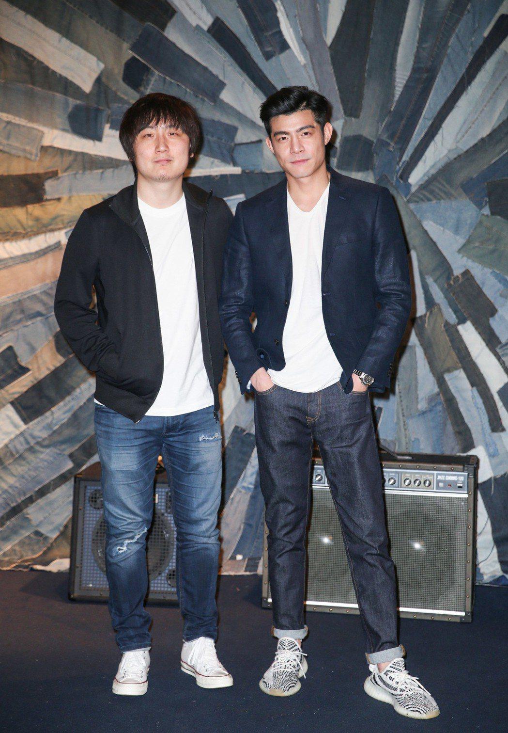 專訪《鏡像人.明日青春》導演張林子(左)和演員王柏傑(右) 。記者陳柏亨/攝影