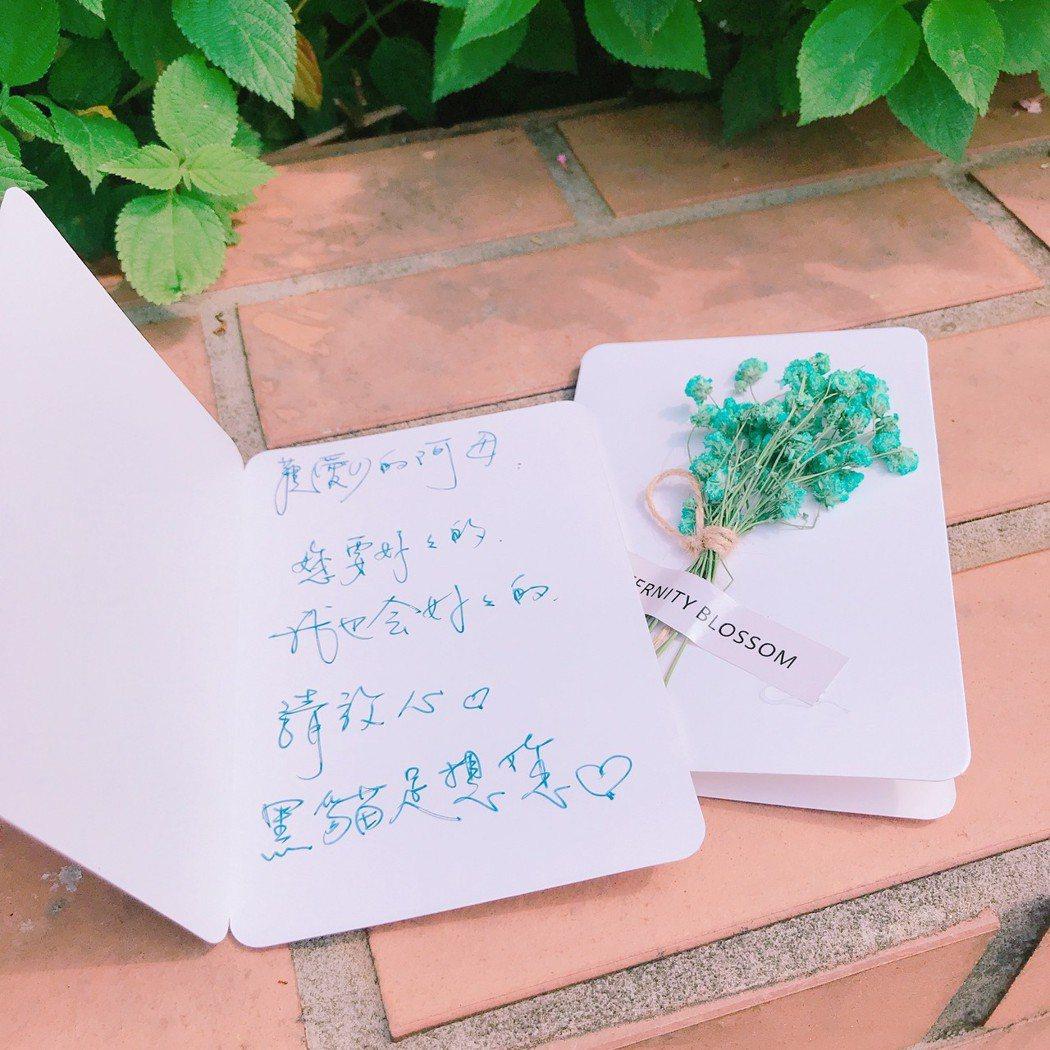 陳美鳳寫下對養母的思念。圖/京城之霜提供