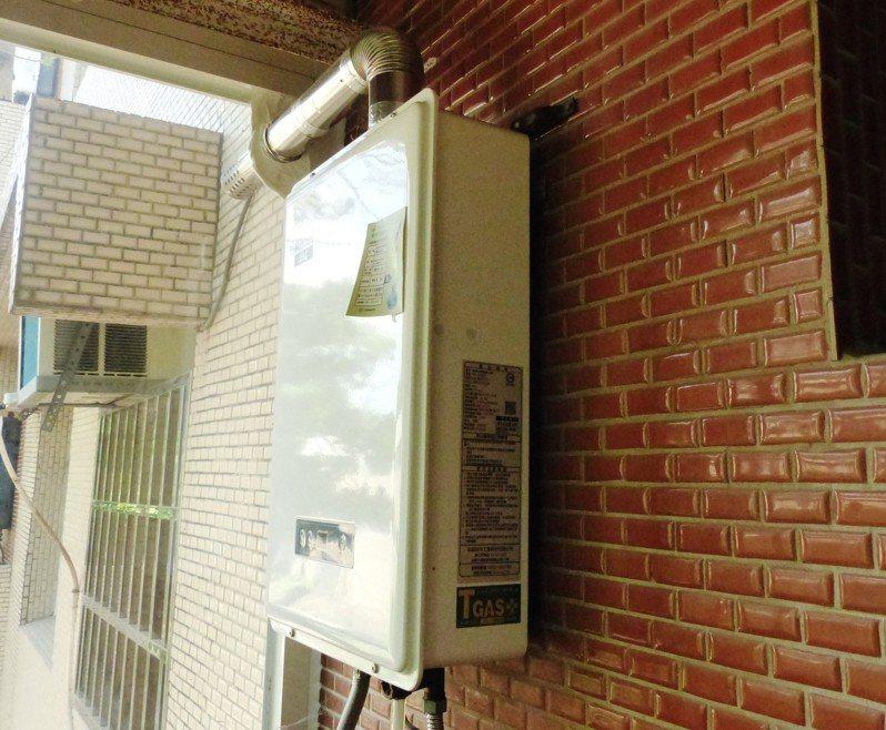 熱水器示意圖。 聯合報系資料照片/記者凌筠婷攝影