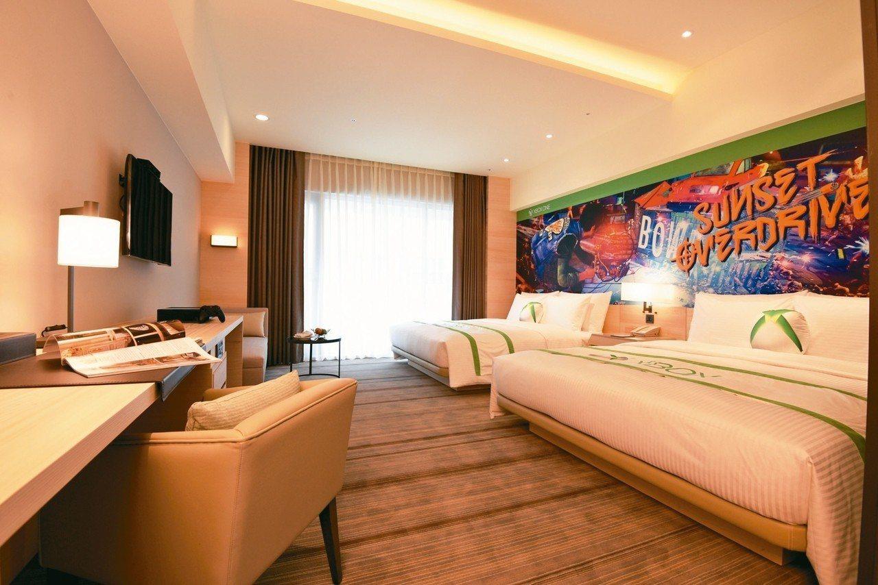 和逸飯店台南西門館推出 XBOX ONE和逸客房。 圖/國泰商旅提供