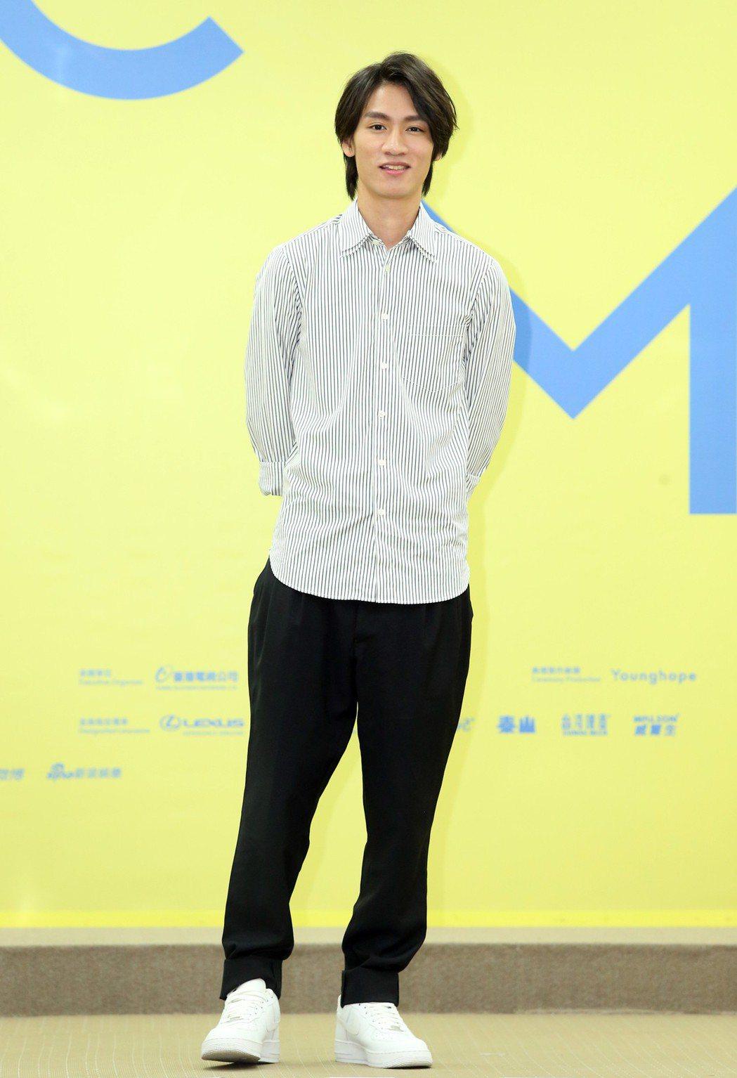 柯智棠出席金曲音樂節起跑儀式。記者徐兆玄/攝影