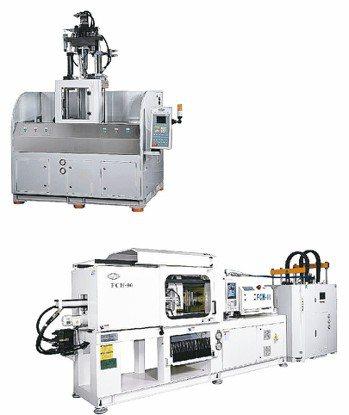 暉珈公司立式液態矽膠射出成型機成功搶進綠能商機市場。 暉珈公司/提供