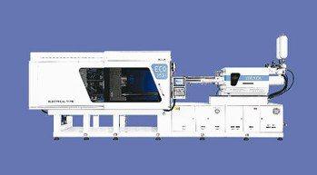 鏈發公司開發成功ECO-350s電氣式複合高速射出成型機。 鏈發公司/提供
