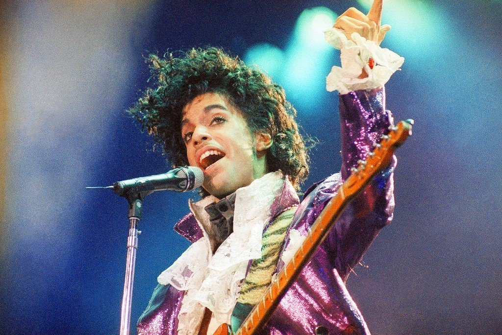 美國已故歌手王子。 美聯社