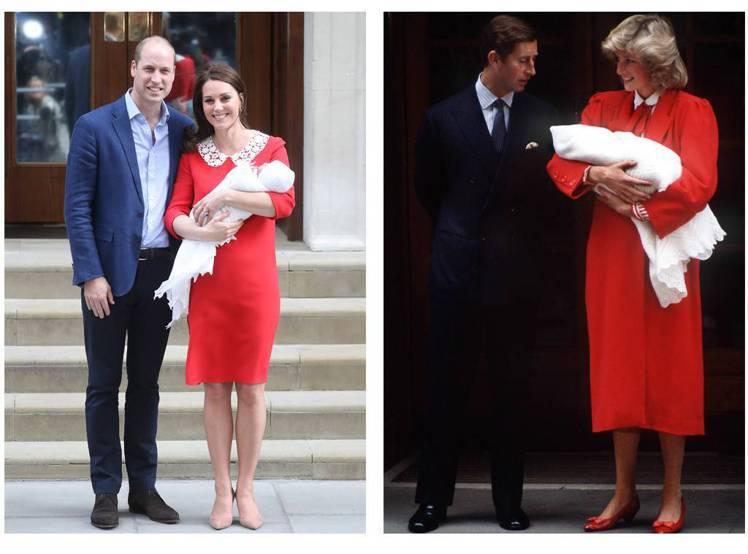 右圖為黛安娜王妃生下哈利王子的造型。圖/擷自californiascoop.co...