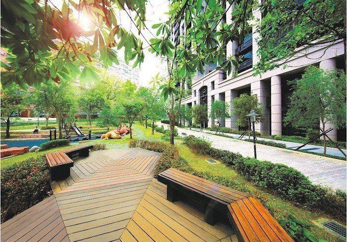「君泰」社區一下樓即是公園,享有無敵景觀棟距,窗外景色便能擁有開闊心境。 圖...
